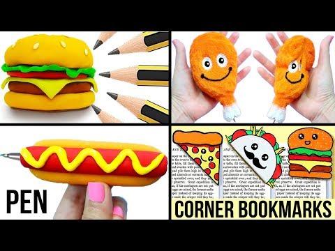 DIY SCHOOL SUPPLIES (Food-inspired) for Back to School | Easy & Cute School Hacks