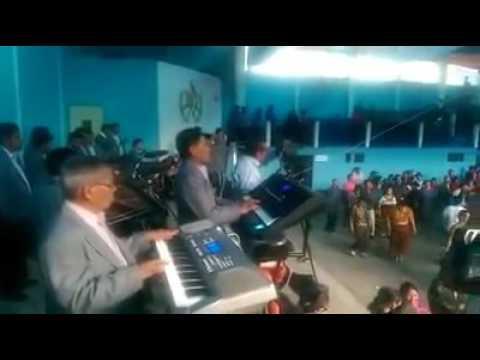 Marimba Club Amistad, En San Pedro Soloma Celebrando el año nuevo 2017#2