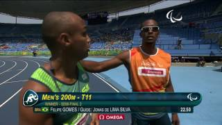 Athletics | Men's 200m - T11 Semifinal 2 | Rio 2016 Paralympic Games