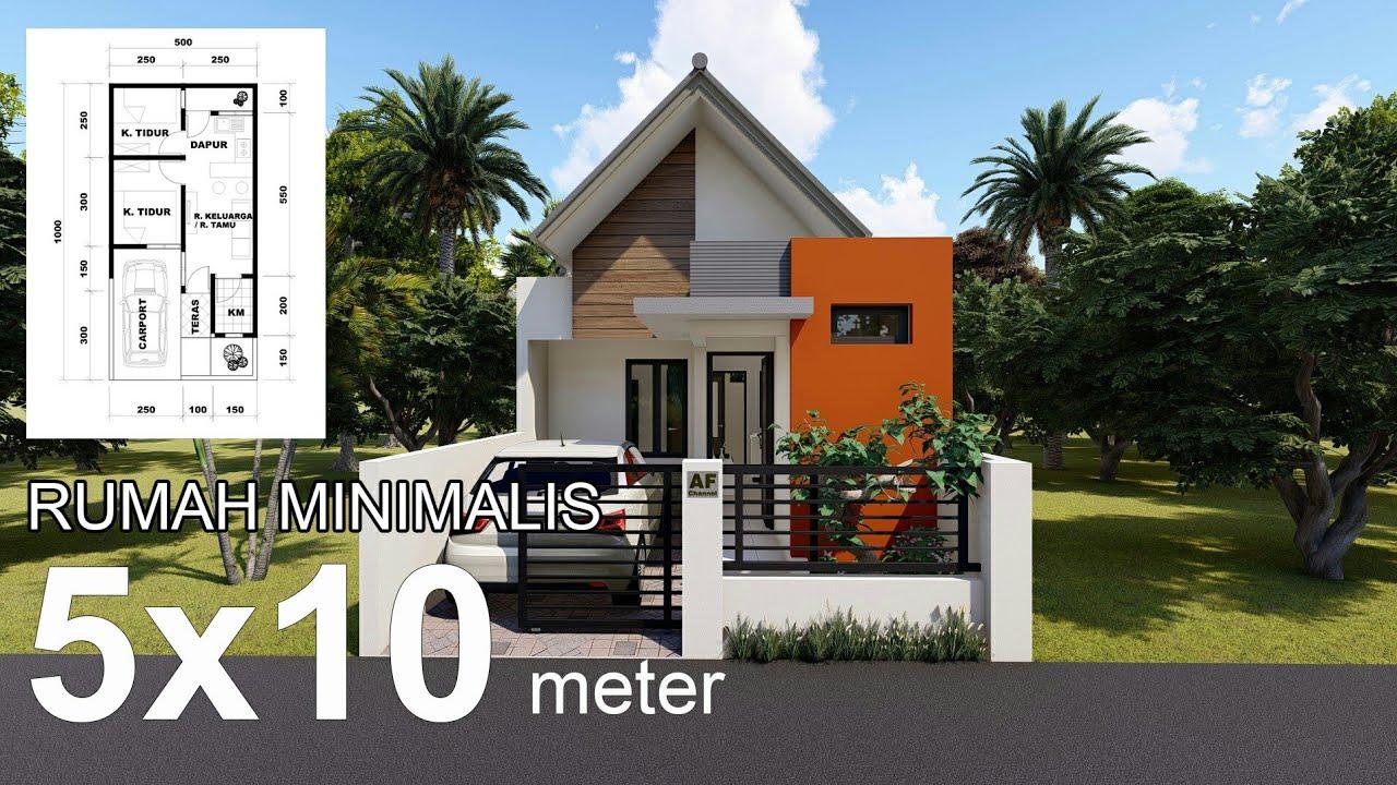 Design Rumah Minimalis Di Lahan 5 X 10 Meter - YouTube
