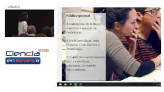 Wikidones, perspectiva de género en la Wikipedia. Estela González. CnR16