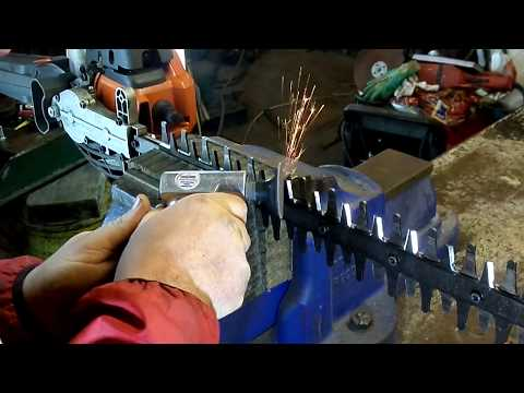 How To Sharpen Hedge Trimmer Blades The Easy Way - YouTube