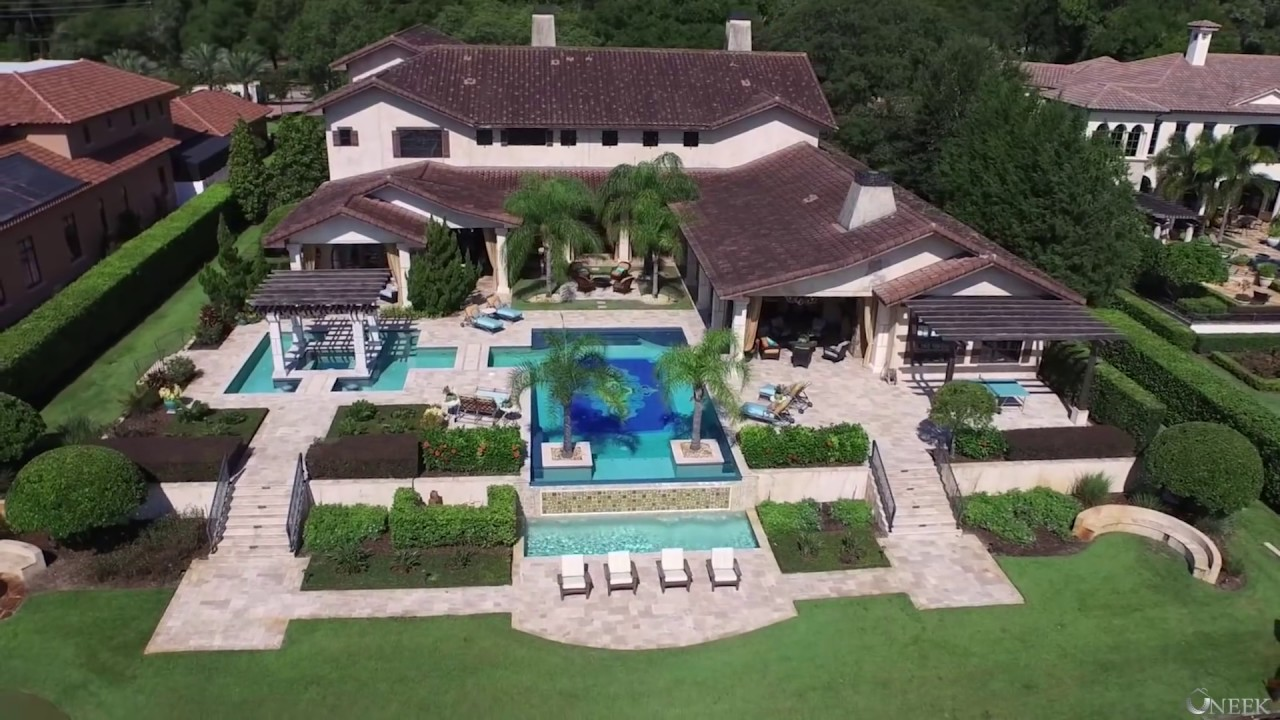$5 Million dollar estate with Bowling alley - YouTube