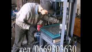 Гидравлический вибропресс для изготовления тротуарной плитки и шлакоблока(, 2014-04-21T10:13:53.000Z)