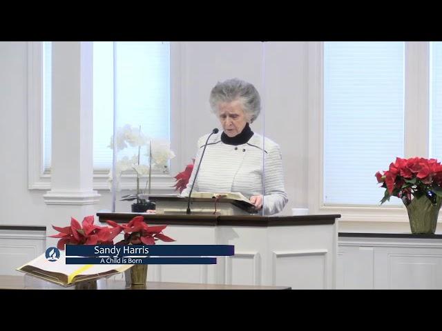 Sandy Harris - A Child is Born (Sabbath Service 12-26-2020)