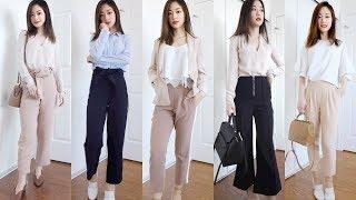 OFFICE LOOKBOOK - Business Casual Outfit Ideas (Petite Girl) 一週辦公室上班穿搭   It's Jcnana 的小個子穿搭