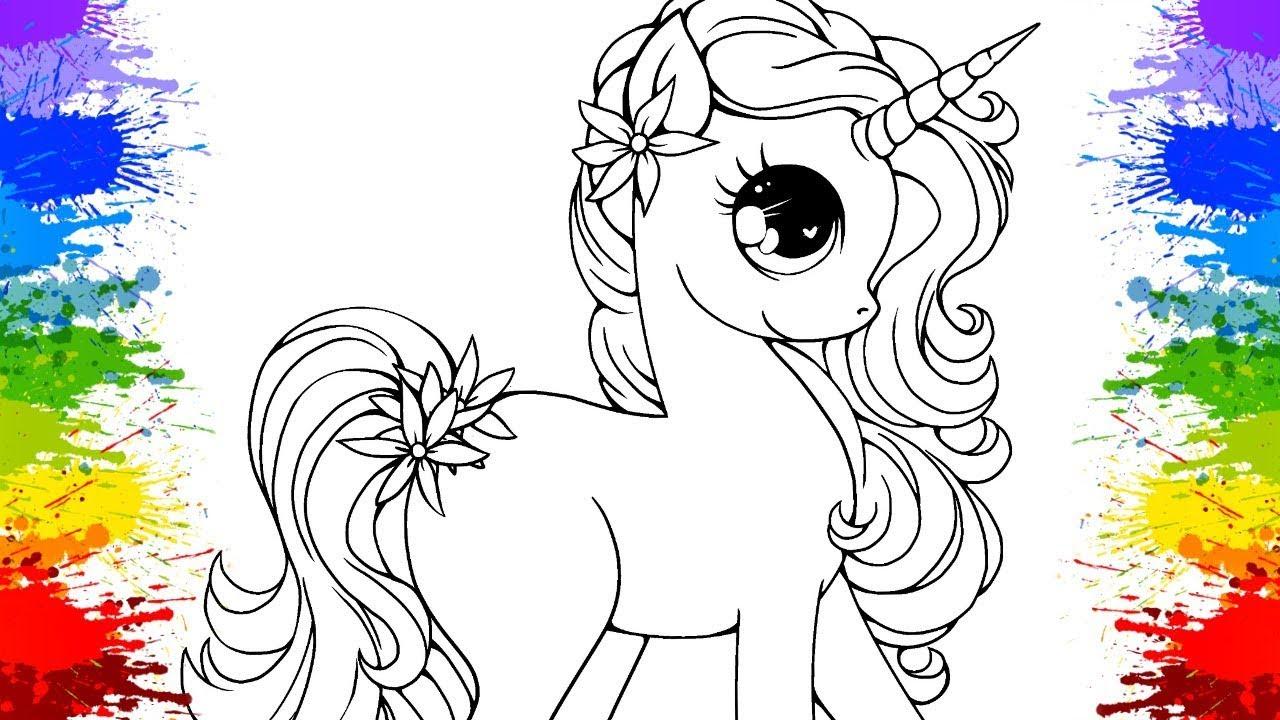 Colorindo Unicornio Desenho Kawaii Unicorn Aprenda As Cores Com