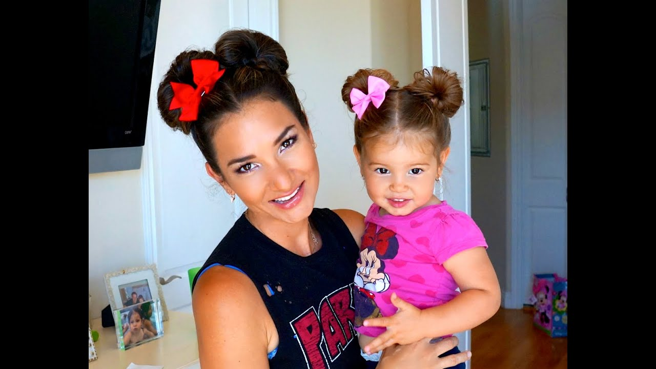 Minnie Mouse Hair Do Easy Super Cute Diy Youtube