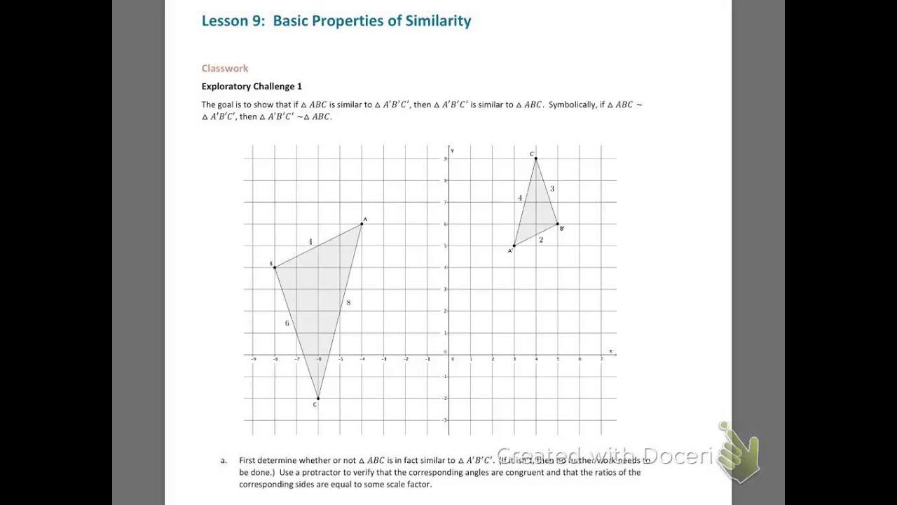 Grade 8 Math Module 3 Lesson 9
