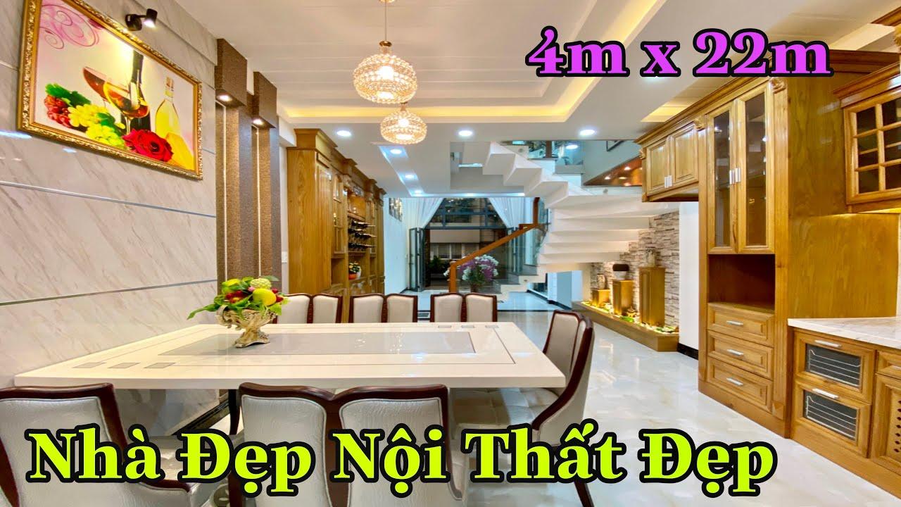 Bán nhà Gò Vấp 792   Nhà phố 4m x 22m thiết kế 3.5 lầu thoáng mát Tuyệt Đẹp tặng nội thất Tiền Tỷ