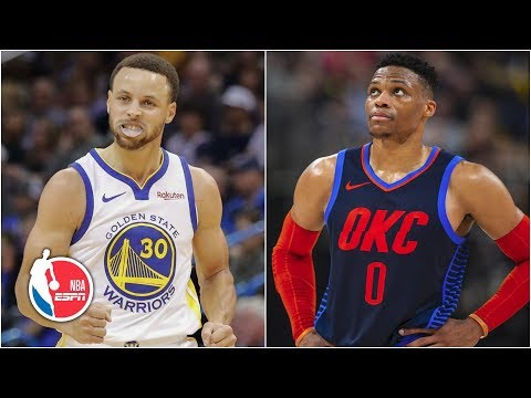 Steph Curry scores 33, Russell Westbrook struggles | Warriors vs. Thunder | NBA Highlights thumbnail