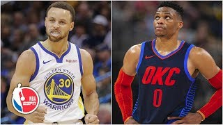 Steph Curry scores 33, Russell Westbrook struggles | Warriors vs. Thunder | NBA Highlights
