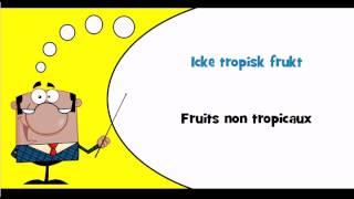 J'apprends le suédois #Thème = Fruits et fruits à coque