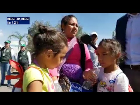 Migrant caravan leaves Mexico City