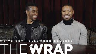 'Black Panther' Stars Chadwick Boseman and Michael B Jordan on 'Broadening People's Bandwidth'