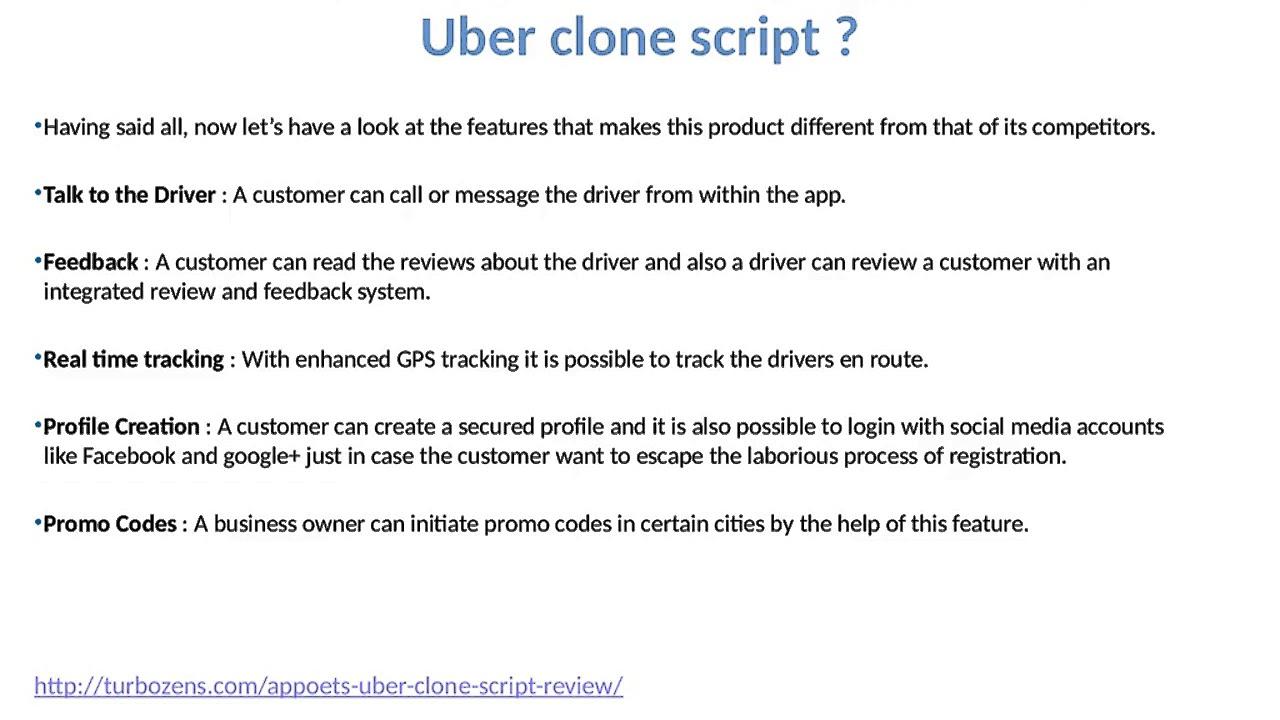 Appoets Uber Clone Script Review
