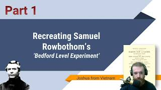 Design: Bedford Level Experiment Part 1: Reading