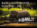 Basic lightroom editing in tamil / தமிழ்