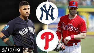 New York Yankees vs Philadelphia Phillies Highlights   March 17, 2019   Spring Training