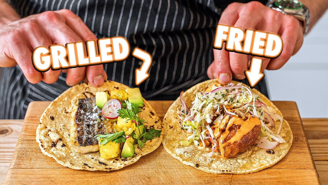 Perfect Fish Tacos (Grilled vs Fried)
