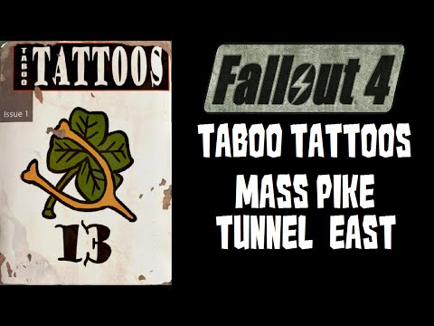 Fallout 4 Taboo Tattoos in Mass Pike Tunnel East