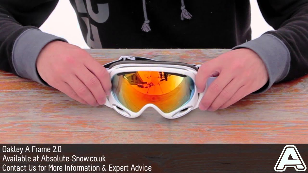 oakley a frame 20 goggles video review