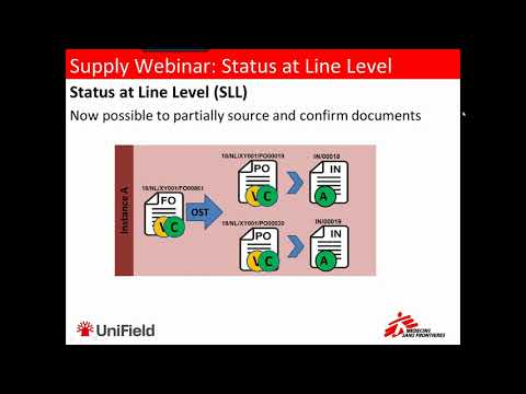 Supply Webinar: Status at Line Level SLL