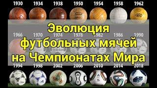Еволюція футбольних м'ячів на Чемпіонатах Світу | WORLD CUP BALLS EVOLUTION (1930 - 2018гг)
