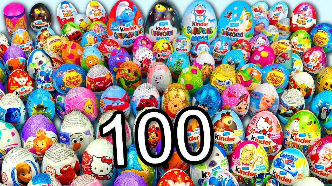 100 Jajko Niespodzianka Psi Patrol Auta Kinder Niespodzianki