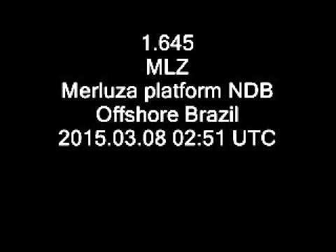 1.645 MLZ Merluza platform NDB, offshore Brazil
