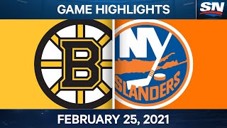NHL Game Highlights | Bruins vs. Islanders - Feb. 25, 2021