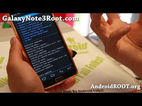 How to Backup/Restore ROM using CWM on Rooted Galaxy Note 3