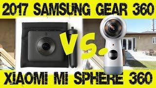 comparison review xiaomi mijia mi sphere 3 5k panoramic 360 camera vs 2017 samsung gear 360