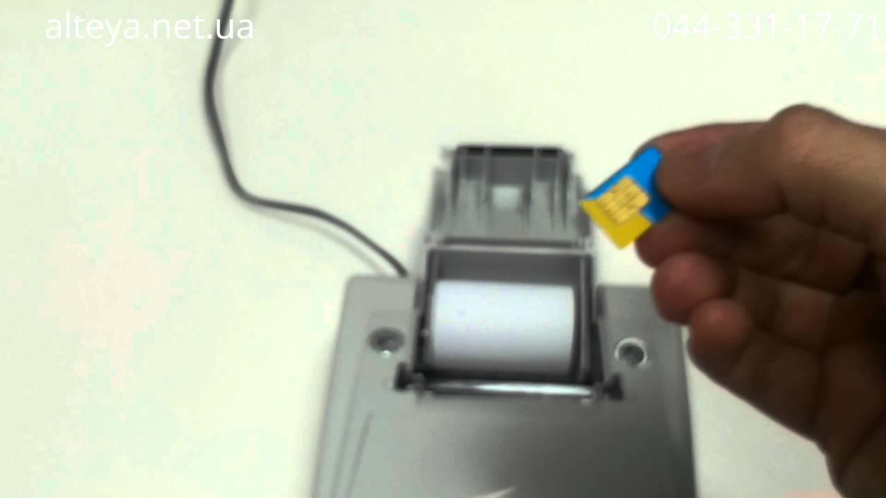 Как установить SIM карту в кассовый аппарат MG-V545T - YouTube