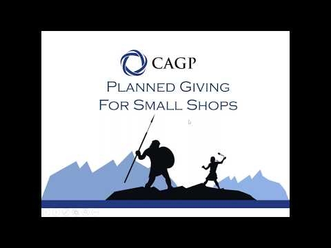 Planned Giving for Small Shops