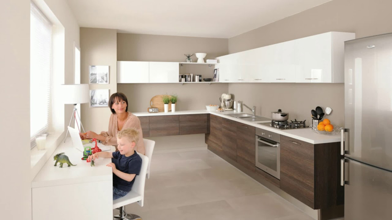 meuble cuisine couleur vanille youtube. Black Bedroom Furniture Sets. Home Design Ideas