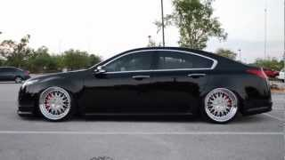 4G ACURA TL WITH ACCUAIR E-LEVEL & AIRREX STRUTS