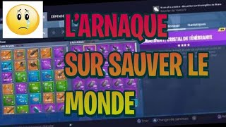 I DO ARNAQUER FORTNITE SAUVER THE WORLD