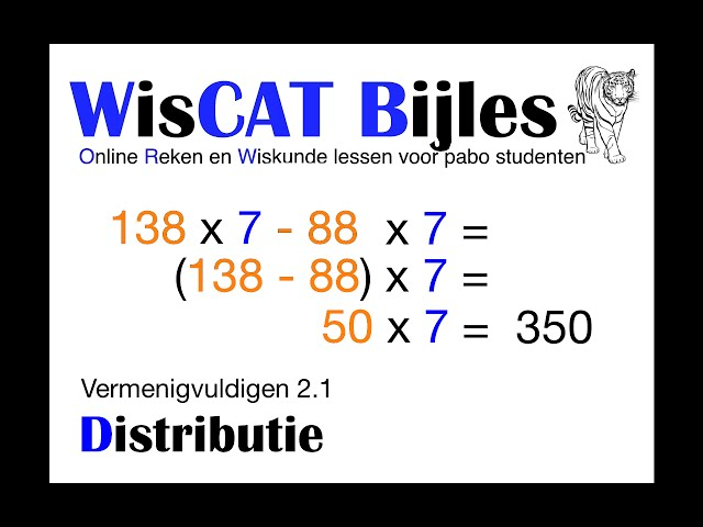 Distributie - WisCAT Werkboek: Vermenigvuldigen 2.1