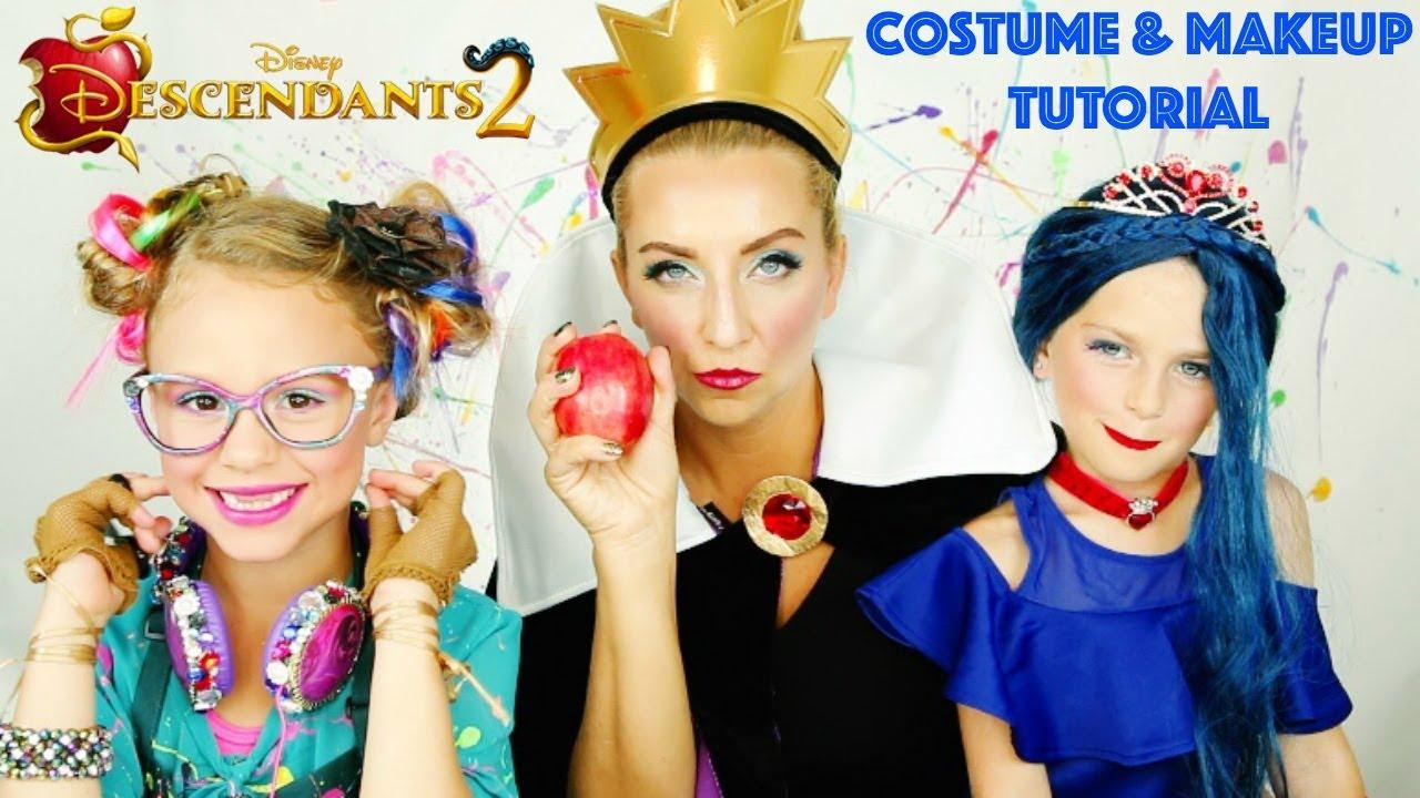 Disney Descendants 2 Evie Cotillion Makeup & Costume Tutorial