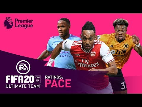 FASTEST Premier League Players | FIFA 20 | Aubameyang, Sterling, Salah
