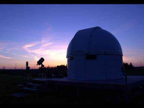 Areal View Of The Baden Observatory. Ontario, Canada