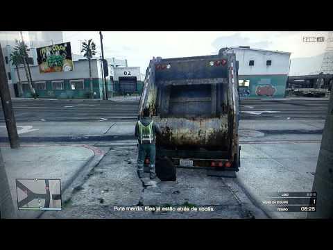 GTA V Online Missão Caminhão de Lixo Fail