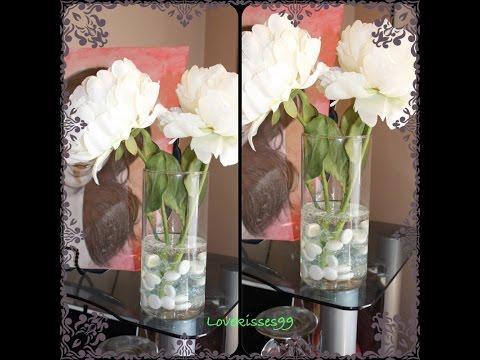 "DIY: Faux ""Water"" Flower Arrangement"