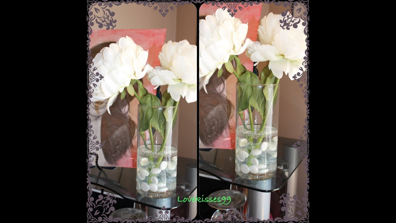 "How To Make Floral Arrangements diy: faux ""water"" flower arrangement - youtube"