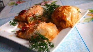 cabbage rolls 🍽️ КАК СДЕЛАТЬ ГОЛУБЦЫ В ТОМАТНОМ СОУСЕ ВКУСНЯШКА