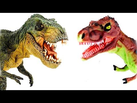 Dinosaurs - T Rex VS Gorgosaurus Dinosaurs cartoons for children