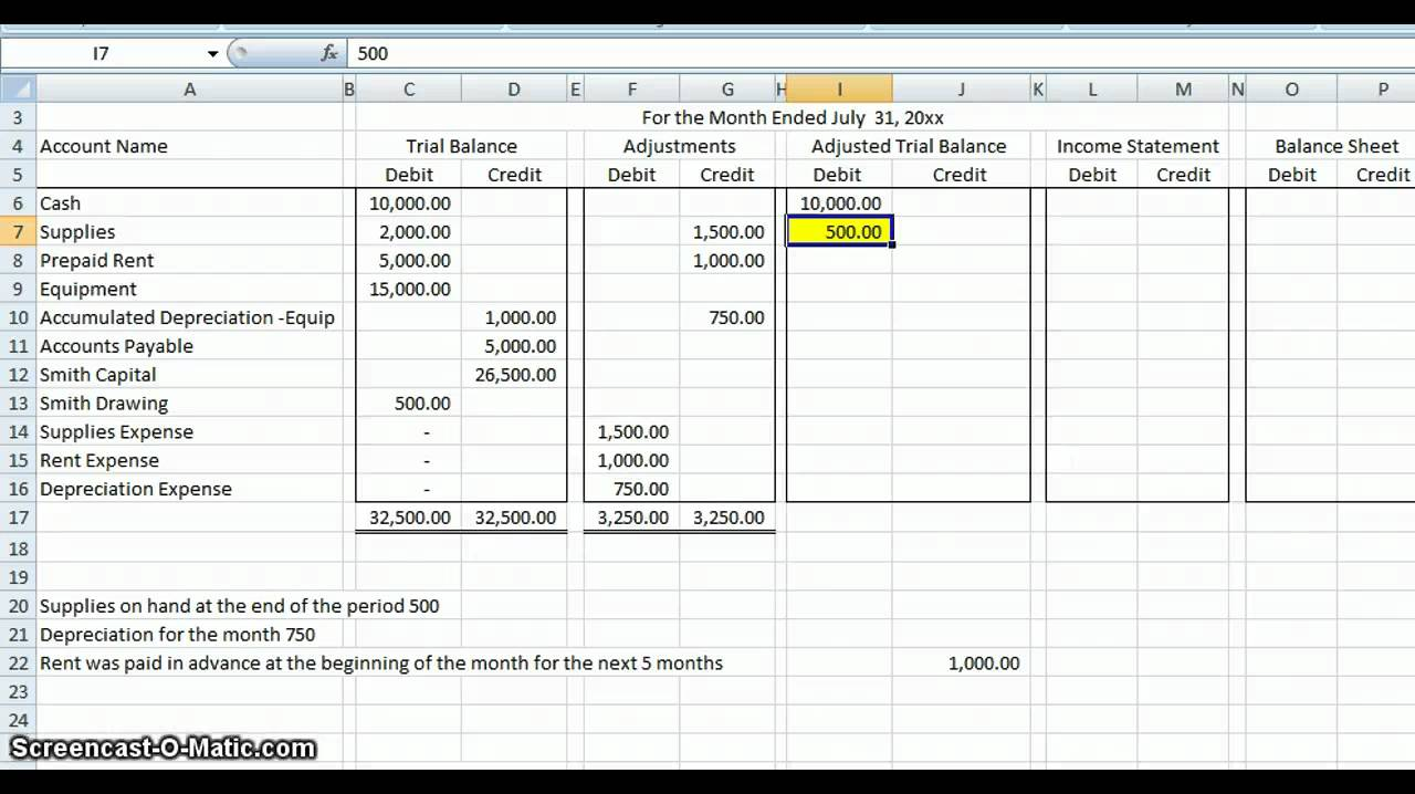 accounting spreadsheet examples