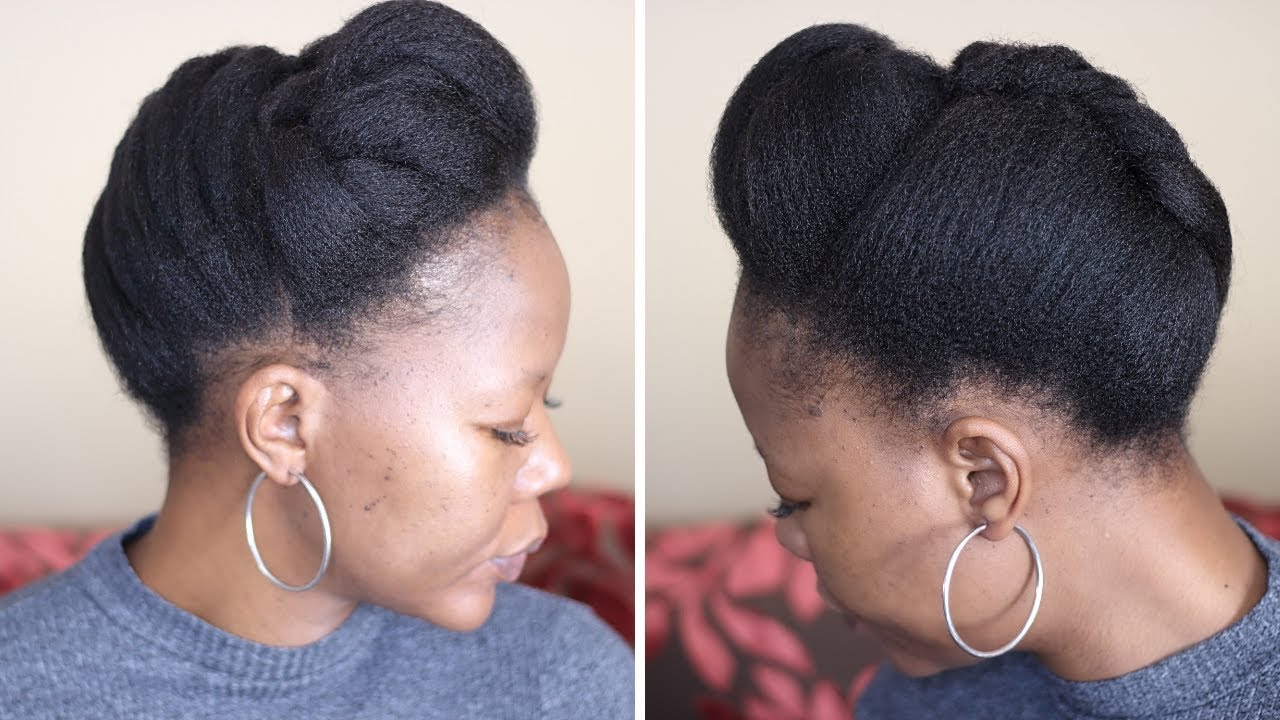Style Your Natural Hair In 10 Minutes Protective Styling Youtube