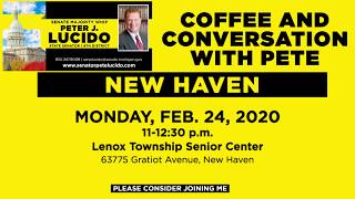 Sen. Lucido to host Coffee Hours on February 24